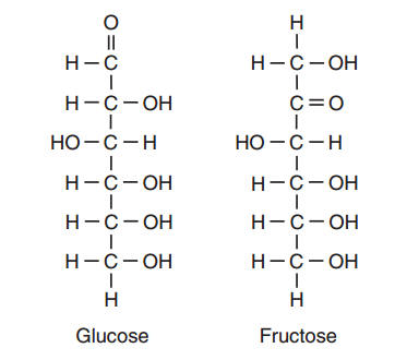 64 identify the functional group that appears more than once in the fructose molecule 1